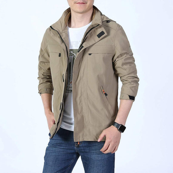 Mens Zip Up Jacket with Removable Hood - Presidential Brand (R)