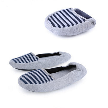 Women Mother Fashional Breathable Navy Stripe Women Casual Flat Shoes - Presidential Brand (R)