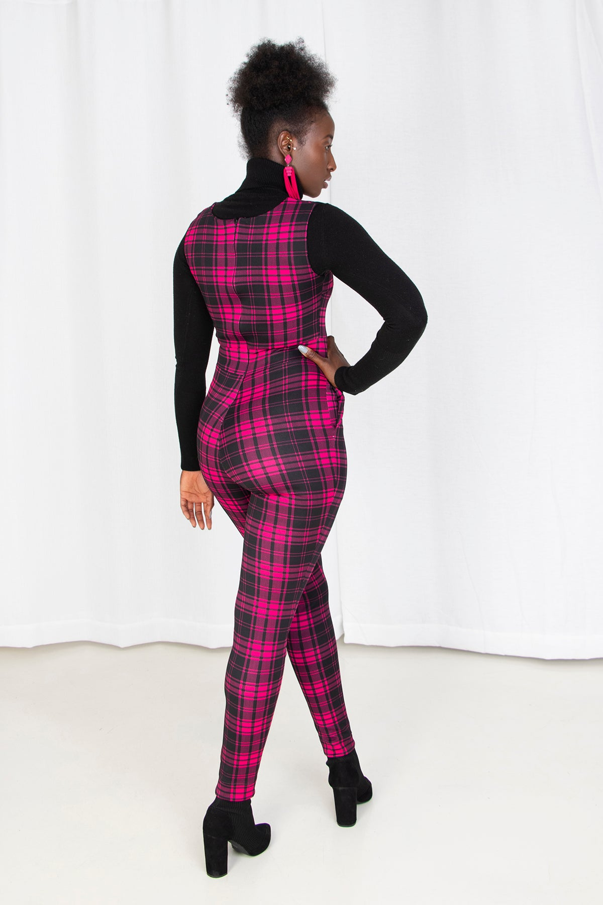 Radio Ga Ga Plaid Catsuit