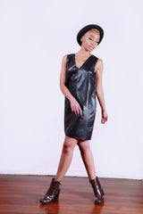 Who's Bad? Faux Leather Dress