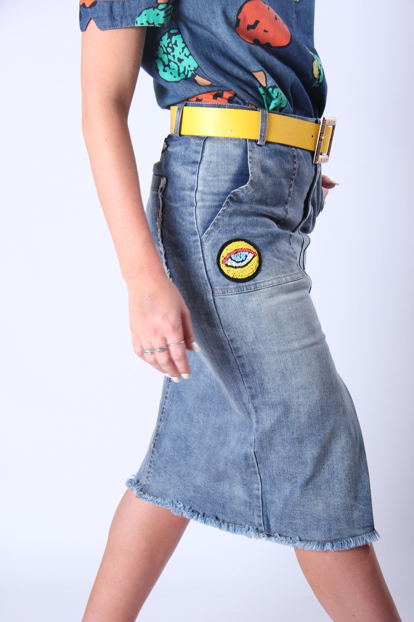 Little L Denim Pencil Skirt
