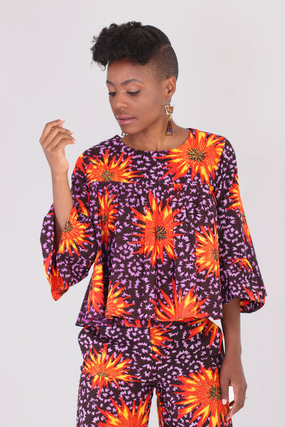 Fireworks Printed Blouse