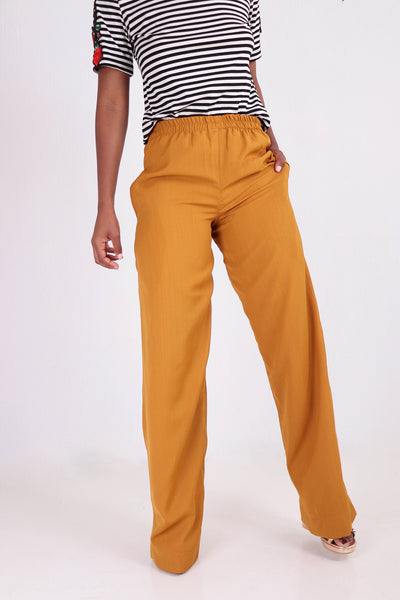 Shakira Flared Trousers - Mustard