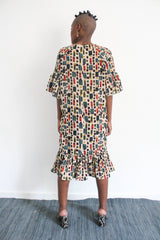 Cranes Printed Dress - Light