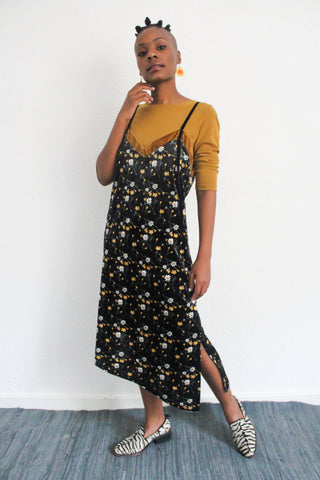 Troopa Floral Velvet Dress