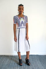 The City Pleated Dress - White