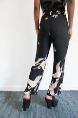 The Birds Printed Suit Pants