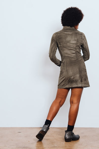 Freedom Suede Shirt Dress
