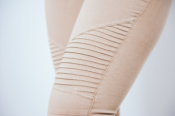 Cruisin' Moto Leggings - Khaki