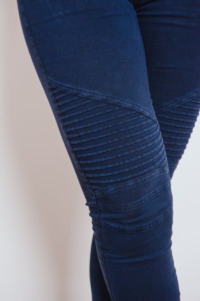 Cruisin' Moto Leggings - Midnight Blue