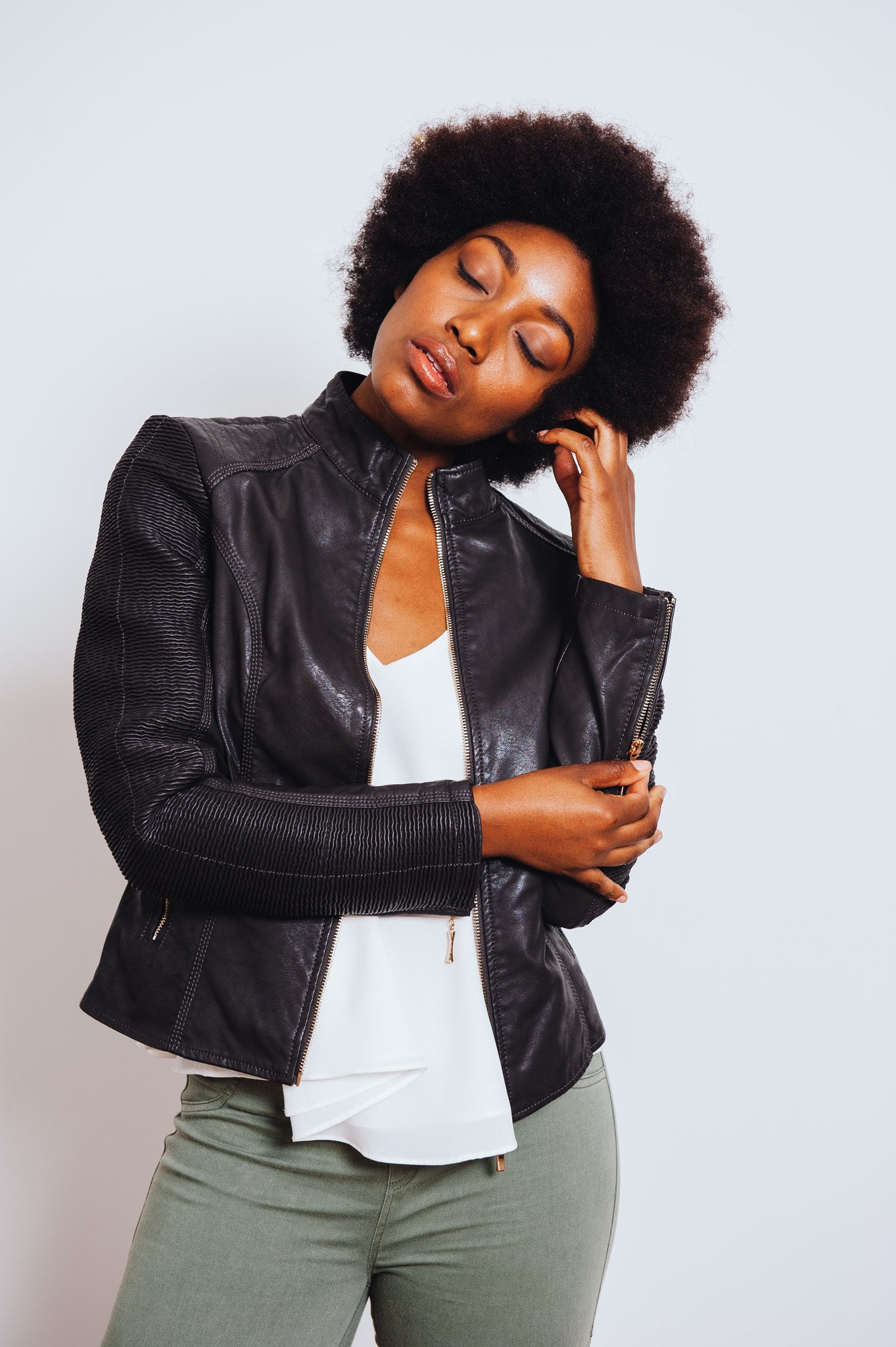 Don't Panic Vegan Leather Jacket