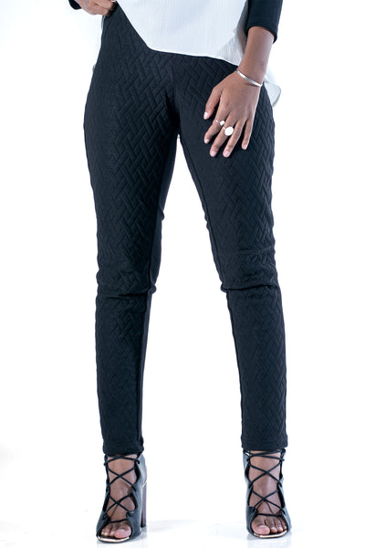 Shotgun Quilted Leggings - Black
