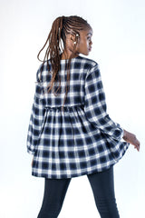 Westwood Plaid Mini Dress - Blue