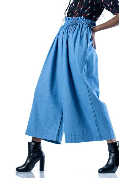 Kofifi Denim Culottes - Light Blue