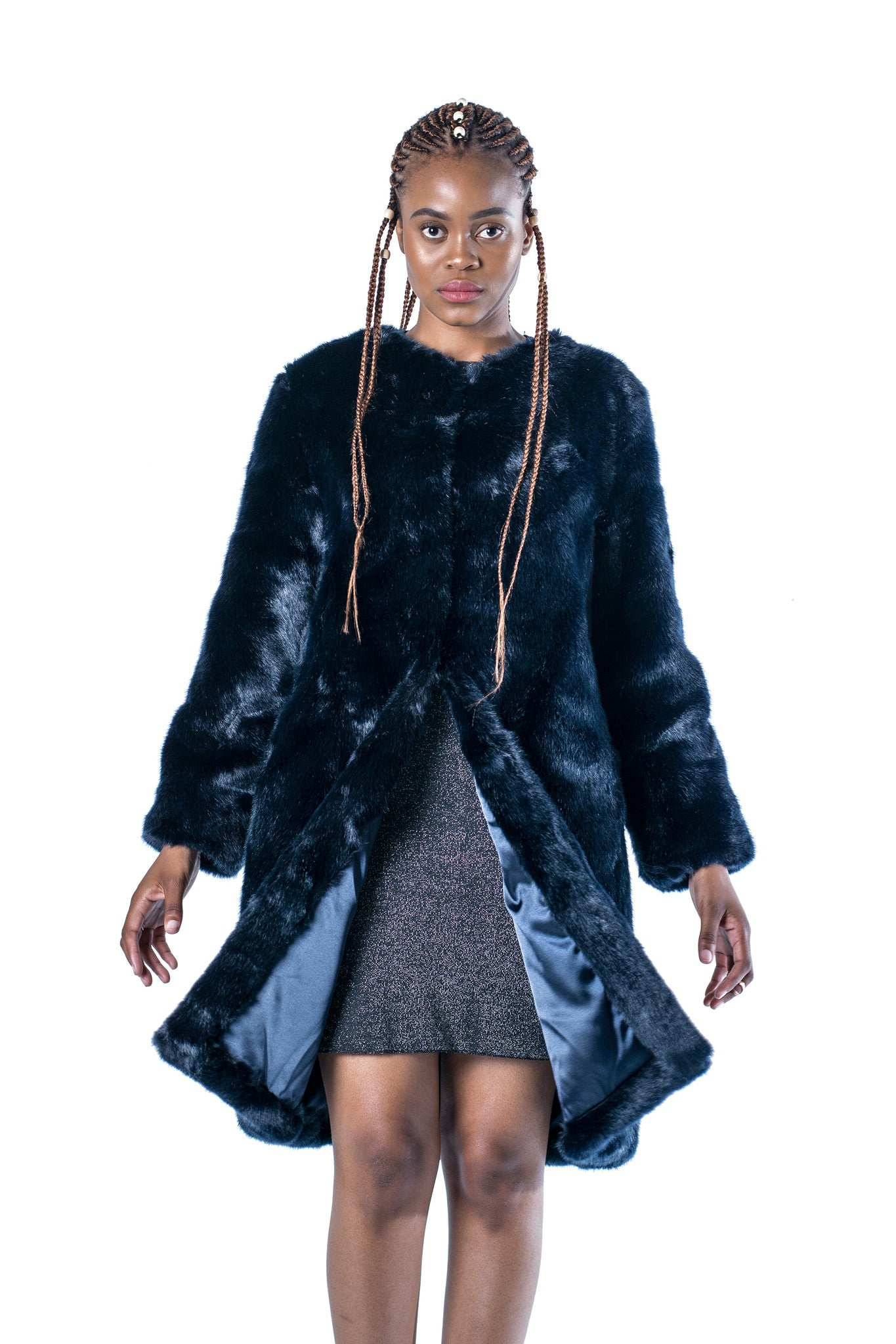Get Money Faux Fur Coat