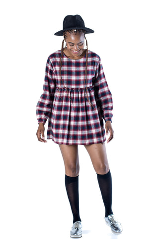 Westwood Plaid Mini Dress - Red