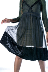 'Round Midnight Sheer Velvet Dress