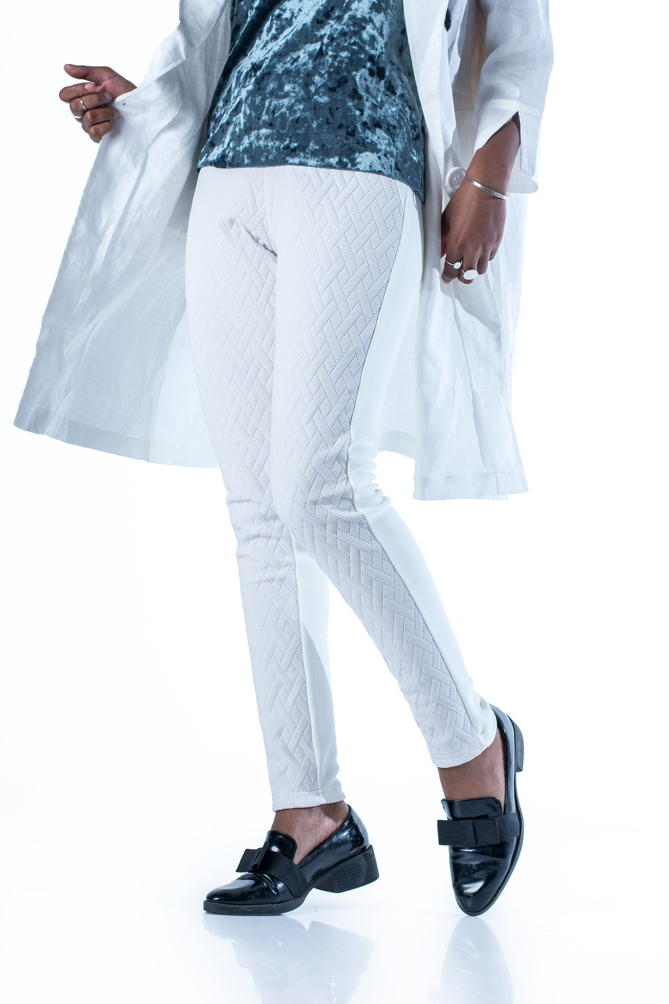 Shotgun Quilted Leggings - White