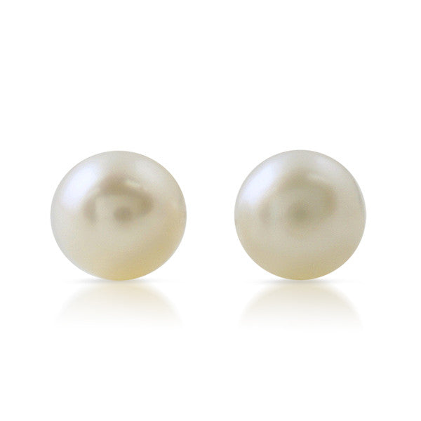 White Freshwater Pearl Silver Earrings