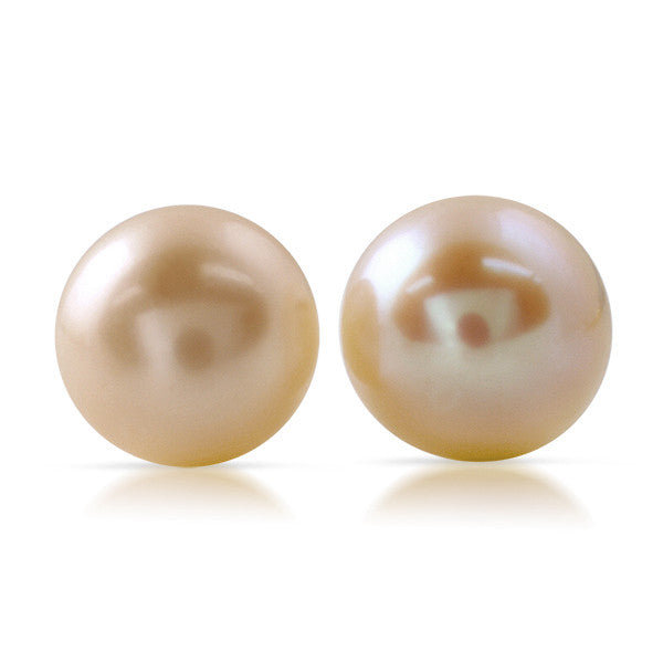 Pink Freshwater Pearl Silver Earrings