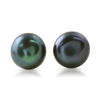 Black Freshwater Pearl Silver Earrings