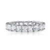 3mm Princess Cut CZ Eternity Ring