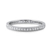 2mm 0.75 CTW CZ Silver Milgrain Eternity Band