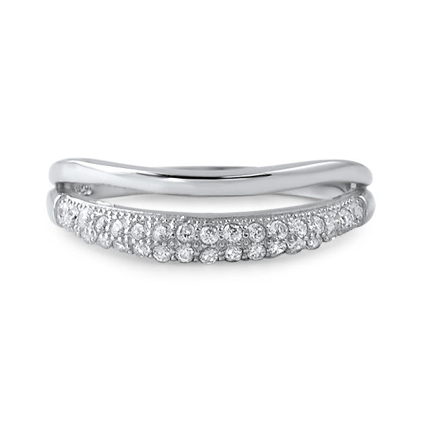 0.35 CTW Sterling Silver Layered Fashion Ring