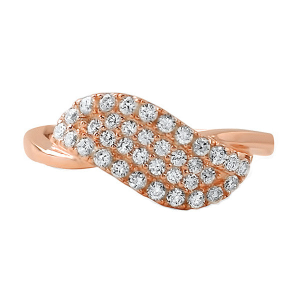 Rose Gold Angel Wing CZ Fashion Ring