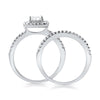 1.00 CTW Cushion Cut CZ Bridal Ring Set
