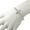 Silver CZ Cross Fashion Bracelet