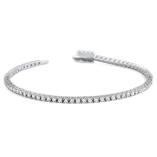2mm Round Brilliant Cut Signity CZ Tennis Bracelet