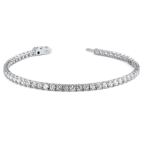 3mm Round Cut Simulated Diamond Tennis Bracelet