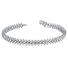 Sterling Silver Aarow Link Simulated Diamond Bracelet
