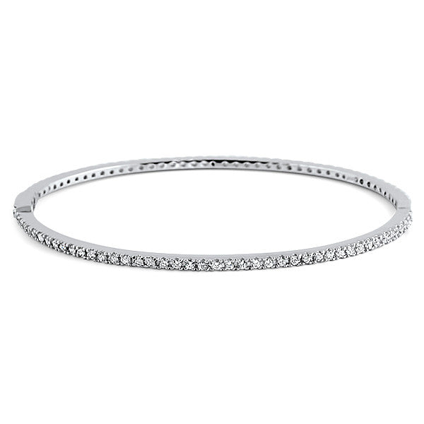 Sterling Silver Signity CZ Hinged Eternity Bangle