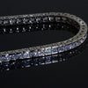 4.35 Carat Princess Cut Simulated Diamond Bracelet