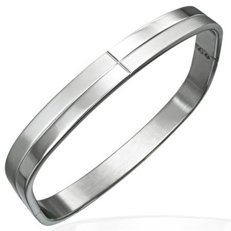 Stainless Steel COSMOPOLITAN Hinged Bangle
