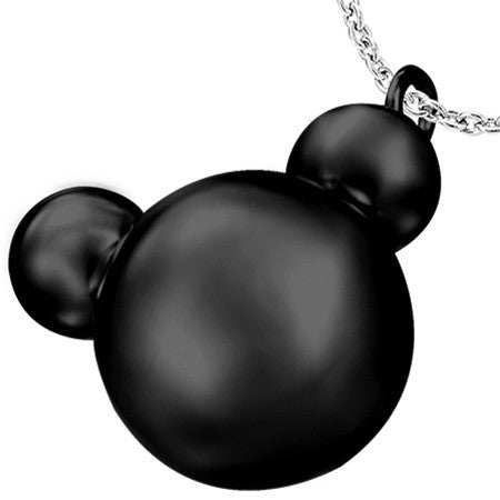 Black Steel TEDDY Charm and Chain Set