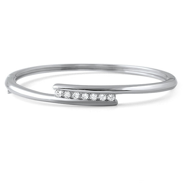 0.35 CTW Modern CZ Sterling Silver Bangle