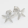 925 Silver Cubic Zirconia Star Fish Stud Earrings