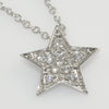 Silver Cubic Zirconia Star Pendant Necklace Set