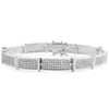 White Gold Finish Micropave CZ Bracelet