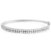 3 CTW AAA Cubic Zirconia Bangle Silver Tone