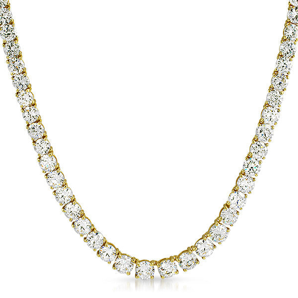 41 CTW Graduating CZ Necklace Gold Tone