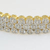 Gold Two Tone Fancy 10 Carat CZ Bracelet