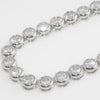 Silver Finish 20.00 CTW Bezel Set CZ Necklace