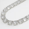 41 CTW Graduating CZ Necklace Silver Tone
