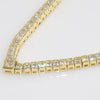 7.5 CTW Fancy Princess Cut CZ Gold Necklace