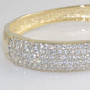 11.40 CTW Large Gold Tone CZ Bangle
