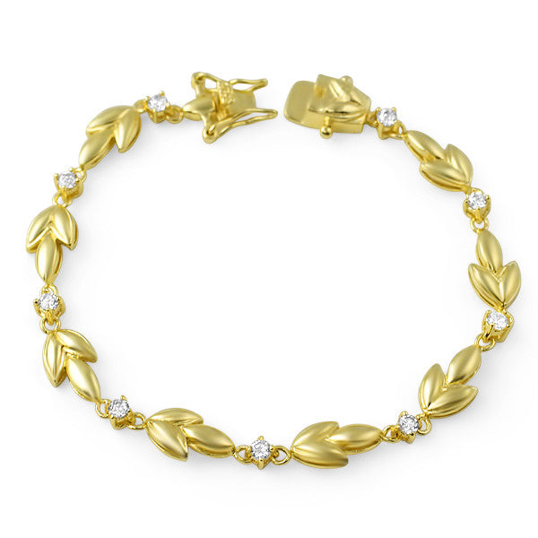 Gold Tone Roman Wreath Fashion Bracelet